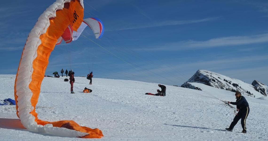 paragliding Bezau Winter